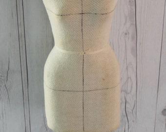 Vintage Half Scale Dress Form on Stand, Vintage 1/2 Scale Dress Form, Vintage Half Scale Dress Form and Kimono