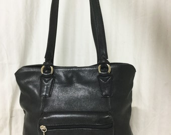 Free Ship, Partners,leather bag,bag,purse, Black, Leather, Tote ,Shoulder Bag