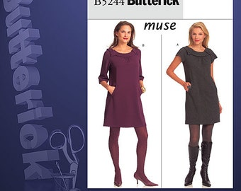 Clearance!!!! Butterick B5244 Easy Misses Muse Dress. Size 6-12.  New and Uncut. Out of Print.