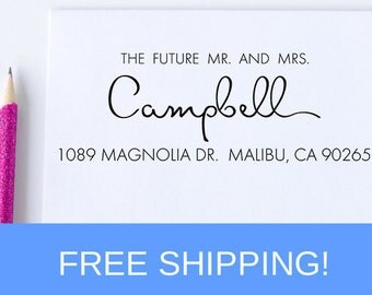 Wedding Return Address Stamp - Wedding Invitations - Self Inking Address Stamp - Wedding Stamp  (W15)