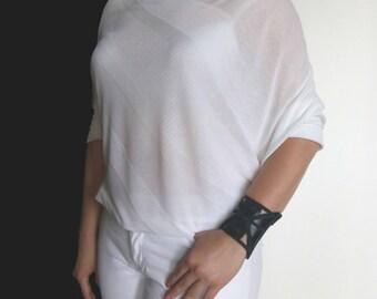 Leather Wristband Wallet Cuff Womans Wrist Wallet Black Jewelry Hands free wallet Woman wrist wallet Leather bracelet