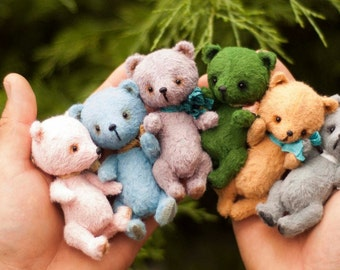Mini bears(make to order),Teddy Bear Stuffed Animal Bear Soft Toys Artist Teddy Bears