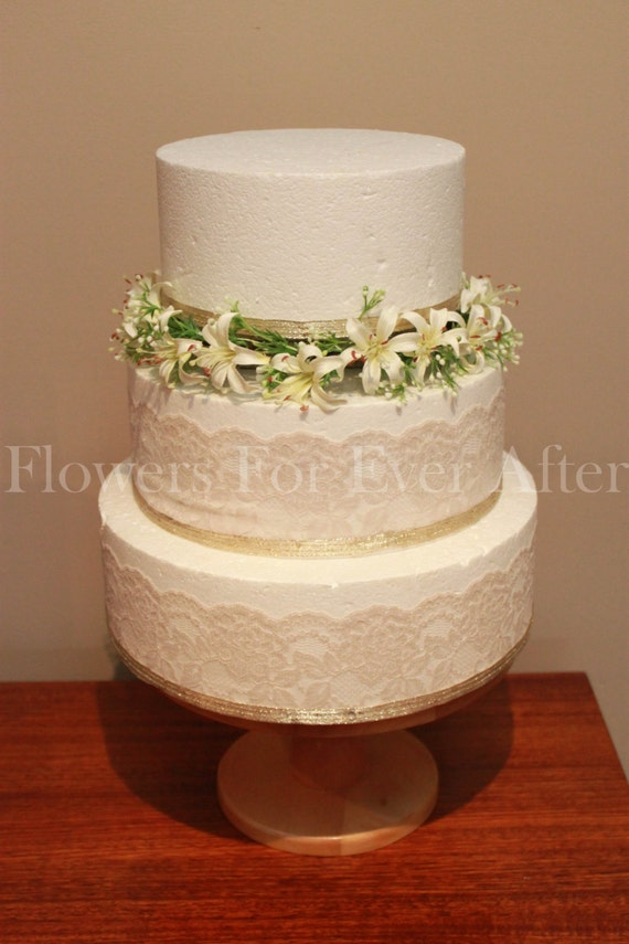 artificial wedding cake flowers silk wedding cake flowers decoration cake ring cake 10846