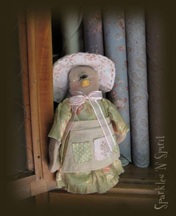 "Pattern: Granny Finch - 3"" Spring Lady Bird"