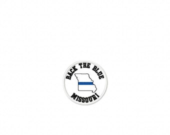 Back the Blue - Missouri - Thin Blue Line Hat PATCH - Police - Law Enforcement -  DIGITAL Embroidery Design