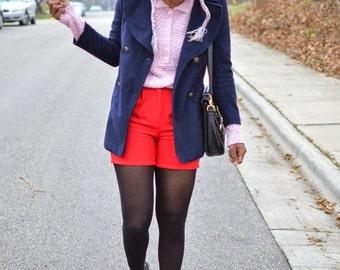Vintage 70s, 80s Light Pink Knit Sweater - Modern Size Medium