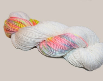 Superwash Merino  sock yarn;4-ply ;  Color:Winter Rainbow