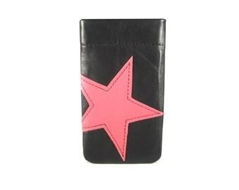 """Iphone Tasche Stern Leder Samsung Galaxy Tasche Leder Iphone Smartphonetasche nach Maß """"Joy"""""""