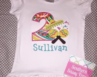 Personalized Fiesta Birthday Shirt