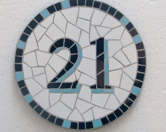 Mosaic house number -classic style, different sizes and colours available