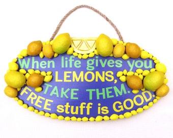Lemonade sign etsy for Lemon shaped lemonade stand