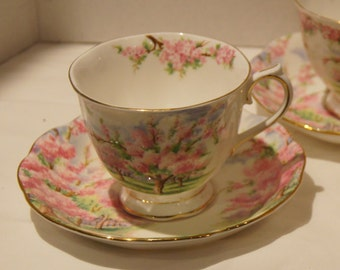 Royal Albert Blossom Time Countess Tea Cup and Saucer