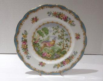 Royal Albert Chelsea Bird Bird Dessert Plate in Blue