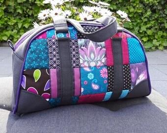 Patchwork Bowler Bag 'Maisie'