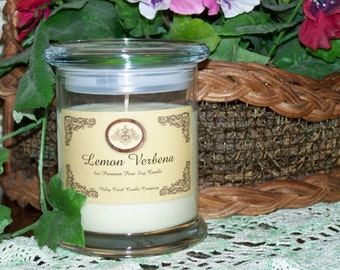 Lemon Verbena Premium 100% Pure Soy Candle 8oz