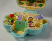 1990 Polly Pocket Midge's Flower Shop - Complete with Two Figures