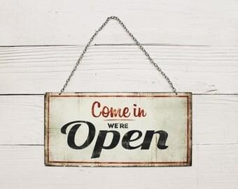 Open Sign-Open Decor-Shop Decor-Vintage Metal Sign-Studio Sign-Door Sign-Cafe Decor-Wall Decoration-Welcome Sign Decor-Vintage,Closed Sign
