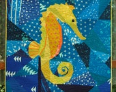 Seahorse, A Foundation Paper Pieced Quilt Pattern, Treasure of the Sea- 50 Inch x 50 Inch