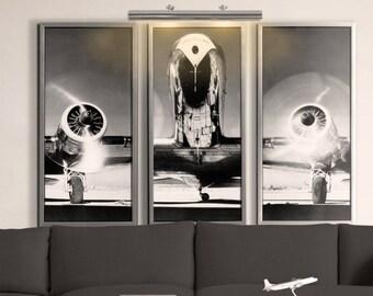 Vintage Airplane Wall Art airplane art | etsy