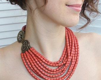 Ukrainian traditional Jewelry - Ukrainian beaded necklace - Ukrainian ethnic necklace - Ukrainian jewelry necklace - Ukrainian