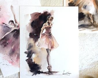 Original Watercolor Painting, Ballerina Painting, Watercolor Art, Dancer, Ballet Art, Ballet Painting, Modern Art