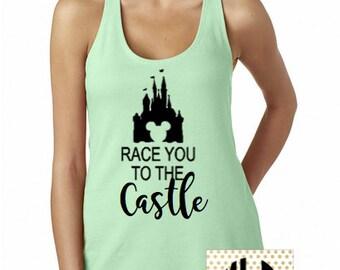 Disney Shirt // Race You to the Castle Shirt // Cinderella Castle // Disneyland // Run Disney // Disney shirt for women