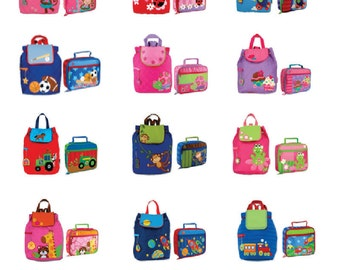 Backpack Stephen Joseph Combo Backpack/Lunch Box INCLUDES SHIPPING!!!! PERSONALIZED