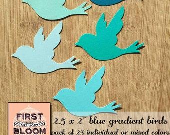 Bluebird - Bluebirds - Die Cut - Scrapbooking - Card Making - Greeting Card - Birds - Bird - Paper Birds - Bird Die Cuts - Die Cut Birds