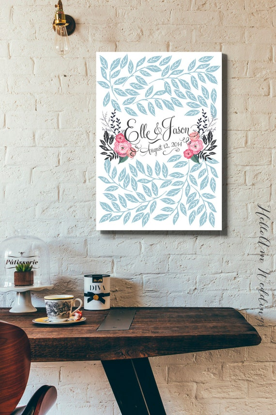 Alternative Gifts For Wedding Party : - Wedding guest book canvas - Wedding guest book tree - Bridal gift ...