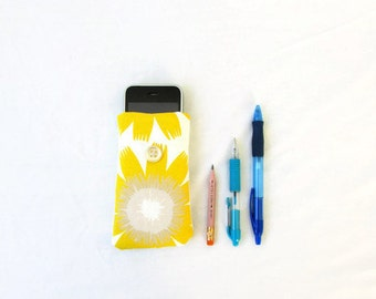 CLEARANCE Fabric phone cover, Iphone 5s 5c 4s, handmade in the UK