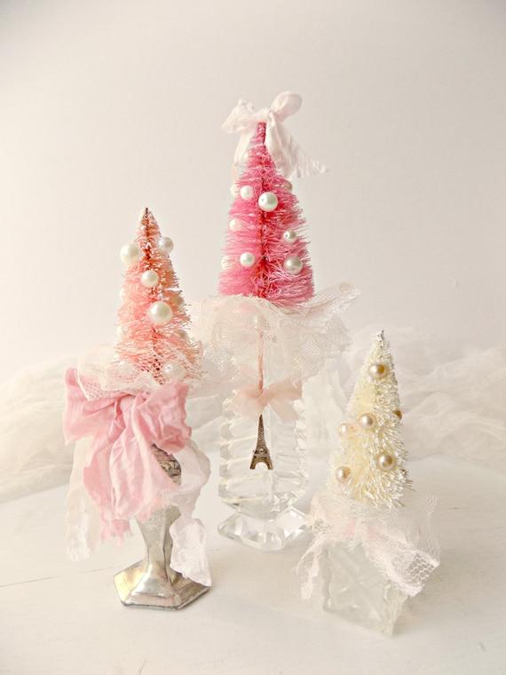 French Christmas Tree Decor Shabby Chic Christmas Tree