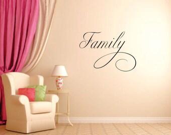 FAMILY Vinyl Wall Decal - Prayer Room - Vinyl Wall Decal - Window Decals - Prayer Closet - Vinyl Wall Decals - Living Room - Den