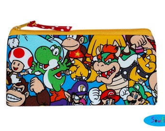 Pencil Case   Zippered Pouch   Pencil Pouch   Zipper Bag   Nintendo Bag