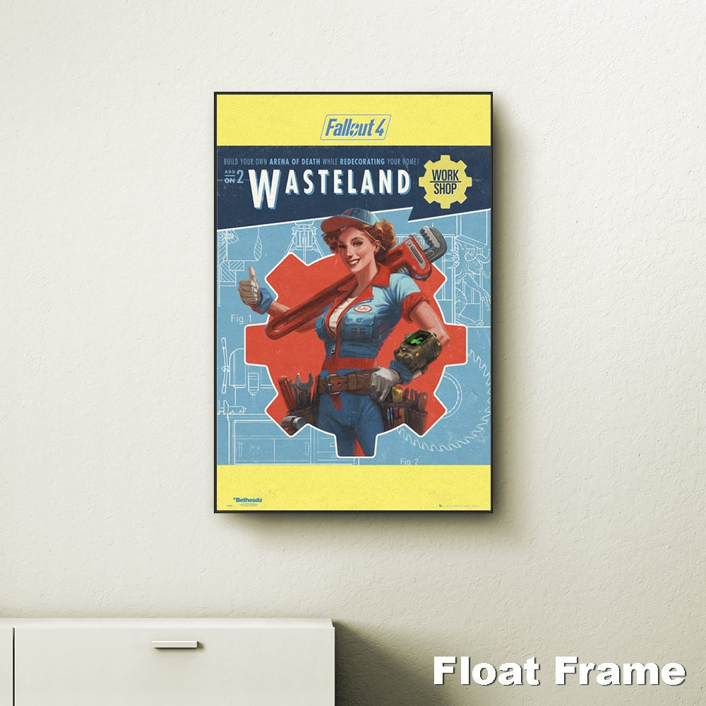 Fallout 4 wasteland wall art choose either a canvas float for Fallout 4 canvas painting