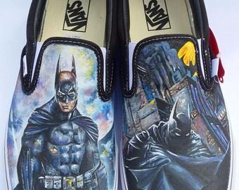 Hand Painted Batman Shoes