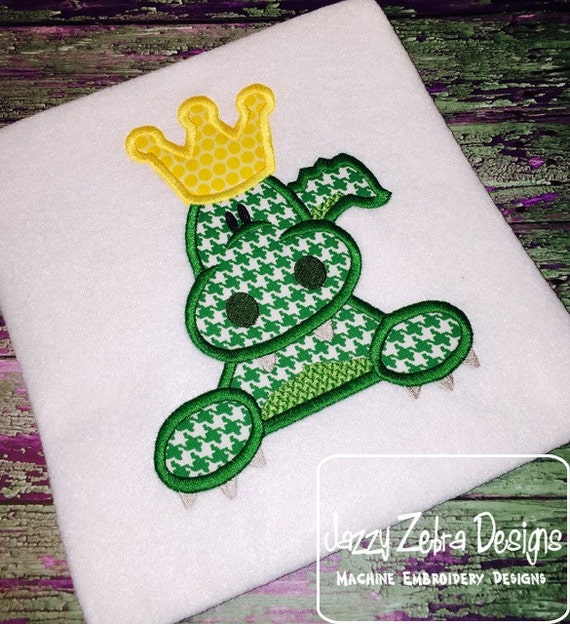 Alligator King Appliqué Design - alligator Applique Design - gator Applique Design - King Applique Design - queen Appliqué Design