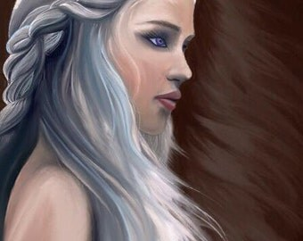 Khaleesi/Game of Thrones/Daenerys Targaryen Digital Artwork