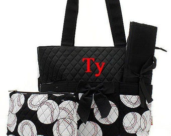 Baseball Diaper Bag Monogrammed Baseball Diaper Bag Monogrammed Diaper Bag  Personalized Diaper Bag