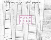 White Wood Digital Paper // Instant Download // Commercial Use