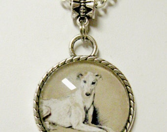 Greyhound pendant with chain - DAP05-029