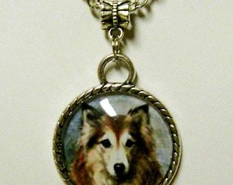 Shetland Sheepdog pendant with chain - DAP05-021