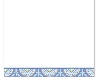 Personalized Stationery | Seaside Bloom Flat Card Notes | Custom Note Cards | Personal Stationery