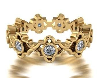 Bridal Rings, Wedding Bands, Engagement Ring, Diamond Wedding Eternity Band, Modern Elegant Engagement Ring