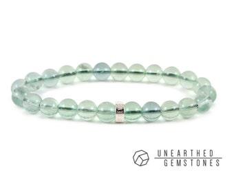 Green Fluorite Bracelet - Crystal Bracelet, Gift Idea for Girlfriend, Neon Green Bracelet, Mint Green Jewelry, Gemstone Bracelet