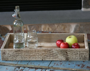 Tray Chic - reclaimed wood tray, decorative rustic tray, coffee tray, serving tray, home decor