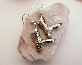 Boot Charms - Womens Earrings - Vintage Jewellery - Dangle Drop Earrings