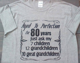 Custom Birthday Shirt, Aged To Perfection Shirt, Adult Birthday Shirt, Birthday Shirt for Men, Birthday Shirt for Women, Family Tree Shirt