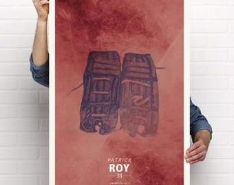 Vintage NHL Hockey Poster - #4 - Montreal Canadiens Patrick Roy