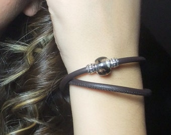 Brown Leather Wrap Bracelet, Womens Leather Bracelet, Womens Leather Jewelry, Wrap Leather Bracelet, Leather Wrap, Brown Leather Bracelet