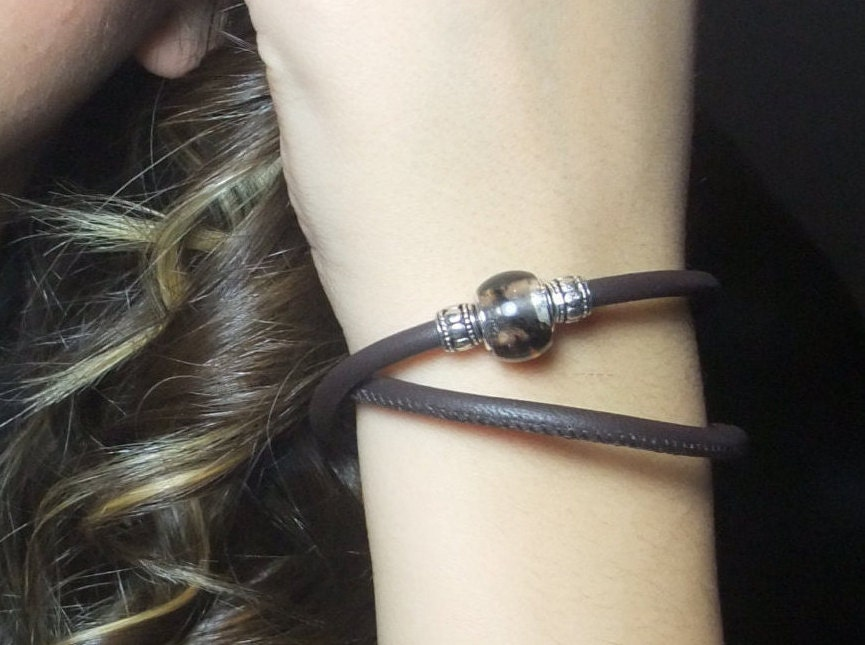 brown leather wrap bracelet womens leather by